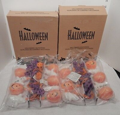 *2* NIB sets AVON HALLOWEEN PUMPKIN & GHOST LIGHT STRING (6 Ft)