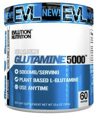 Evlution Nutrition® EVL® Glutamine 5000 60 Servings Recovery/Muscle Growth