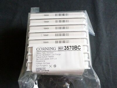 (8) Corning Assay Plate 384 Well, Lid, Tissue Culture Treated, Bar Code, 3570BC