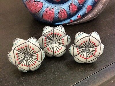 Grey Ceramic Knobs And Pulls Kitchen Cabinet Knobs Flower Knobs Bathroom Knobs