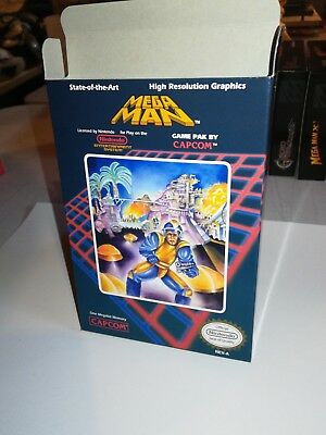 Mega Man NES Box Only, NES Nintendo Replacement Art Case/Box Complete your game!