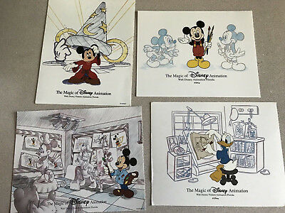 Disney MAGIC OF ANIMATION 4 Postcard Lot, Unused, Ready to Send or Frame