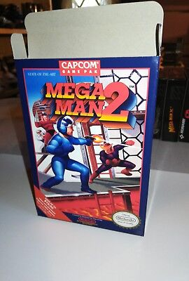 Mega Man 2 Box Only, NES Nintendo Replacement Art Case/Box Complete your game!