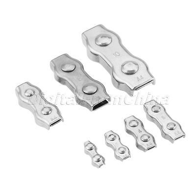 Portable M2-M10 Duplex Clips 316 SS Wire Cable Rope Grips Clamps Caliper Use 1X
