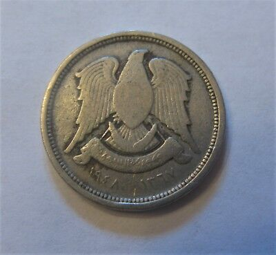 10 Piastres Coin from Syria Featuring the Falcon of Qureish Dated 1948