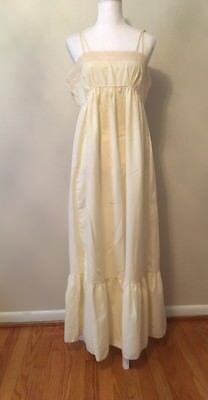 Vintage Lily Of France Flannel Spaghetti Stap Night Gown Size M