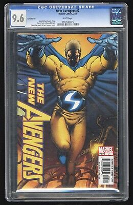 New Avengers #2 (Marvel - 2/2005) CGC 9.6 NM+ W/P Sentry VARIANT incentive cover