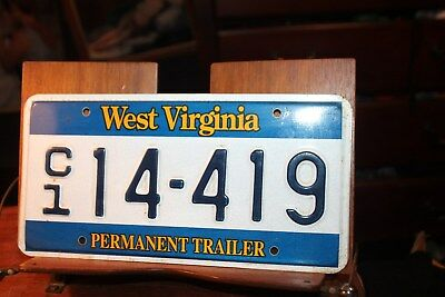 1995 West Virginia License Plate Permanent Trailer C1 14-419