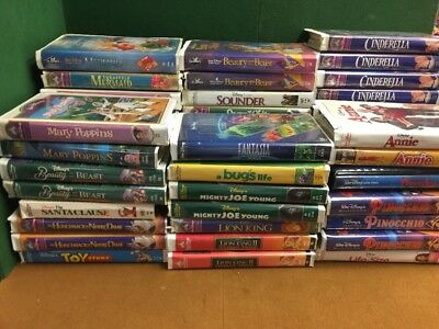Lot 53 Disney VHS Tapes