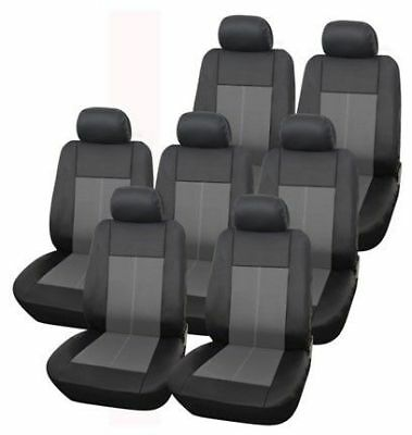 14 PC Black 7 Seat Third Row Car Covers Seater Set For Ford Galaxy 2006 - 2014
