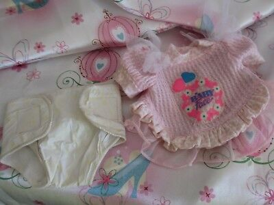 """Galoob Baby Face """"So Innocent Cynthia"""" Doll...Outfit Shirt + Diaper!! NO DOLL!"""