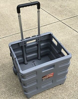 Collapsible Folding Smart Utility Shop Cart Rolling Tote Transporting Items