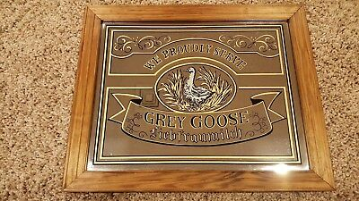 Vintage Grey Goose Liebfraumilch Mirror Bar Sign, Man Cave or She Shed, used.
