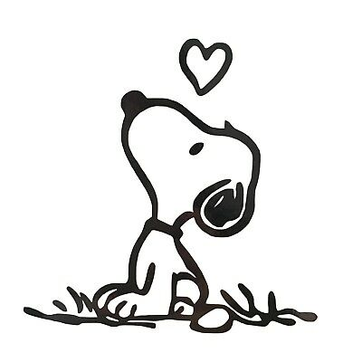 Peanuts Snoopy and Heart Vinyl Decal Sticker