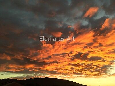 Digital Image Picture JPEG Desktop Wallpaper. Sunset and clouds