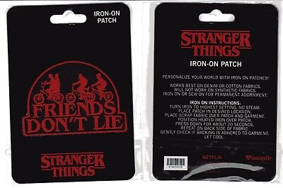 Netflix Stranger Things - Friends Don't Lie Embroidered Iron On Patch