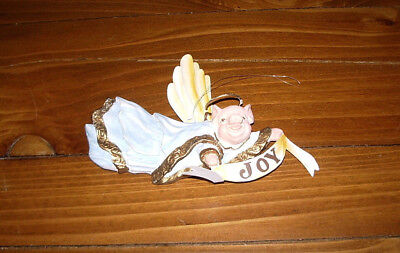 "Flying Pig   ""JOY"" Christmas Ornament"