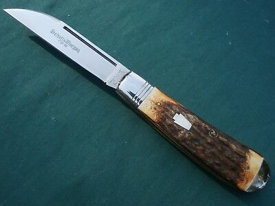 Queen Schatt & Morgan #01 Torched Stag Wharncliffe Swayback Jack Knife