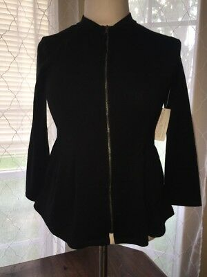 NWT LOGO Littles Size 10 (Large) by LORI GOLDSTEIN Black Zip Up With Pleats
