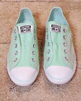 Womens Converse One Star Green Low Shoes Size  8
