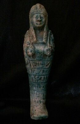 ANCIENT EGYPT USHABTI Antiques EGYPTIAN SHABTI Faience STATUE GOODS 664-332 BC