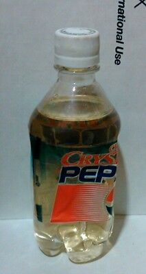 ORIGINAL One FULL    CRYSTAL PEPSI 16oz Bottle from 1992 - 1993  Full Clear Cola