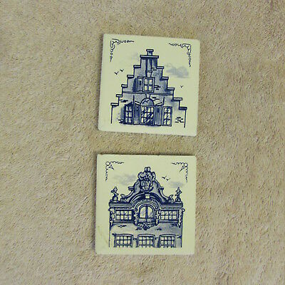 Klm Airline Tile Coasters Delft Royal Dutch Airline Business Class Holland