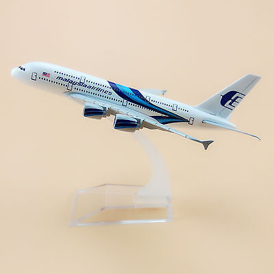 Air Malaysia Airlines Airbus 380 A380 Aircraft 16cm Airplane Model Plane Blue