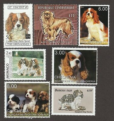 CAVALIER KING CHARLES SPANIEL ** Int'l Dog Stamp Collection ** Great Gift Idea*