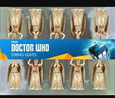 DOCTOR WHO Weeping Angel String Lights 9 ft.  (Brand New)