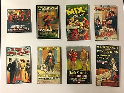 Silent Film Souvenir Novelty Magnets Used Featuring Charlie Chaplin and More