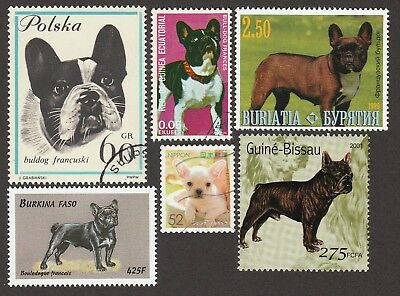 FRENCH BULLDOG ** Int'l Dog Stamp Collection ** Great Gift Idea*
