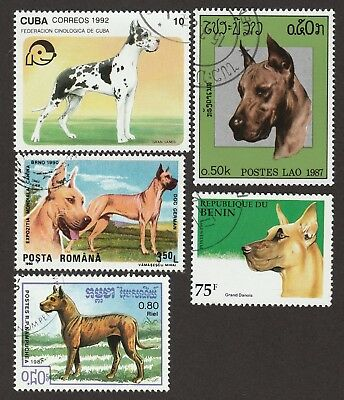 GREAT DANE ** Int'l Dog Stamp Collection **Unique Gift Idea**