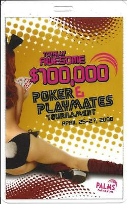 Las Vegas Palms Casino - Playmates Poker Tournament $100,000 2008 VIP Card