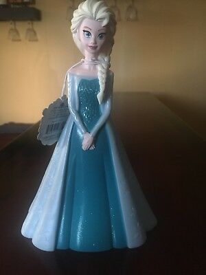 Frozen Elsa Coin Piggy Bank Money Princess Holder Kids Girl Toddler Gift NEW