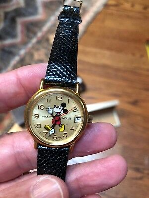 RARE Bradley Mickey Mouse Limited Edition 50th Anniversary Watch NEVER USED