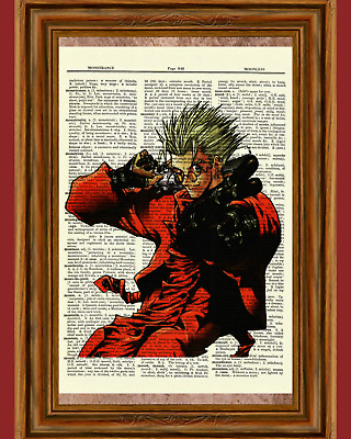 Trigun Vash the Stampede Dictionary Art Poster Picture Anime Manga