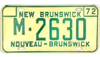 *99 CENT SALE*  NOS 1972 New Brunswick MISCELLANEOUS License Plate #2630 NR
