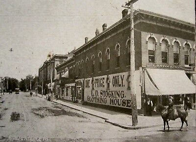 INDEPENDENCE, IA, Stocking Clothing Store,One Price, Montgomery County Iowa 1911