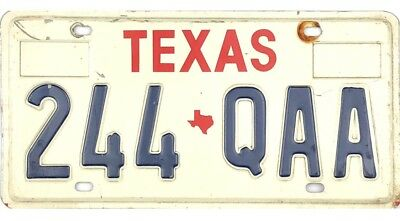 *99 CENT SALE*  1990's Texas License Plate #244-QAA No Reserve