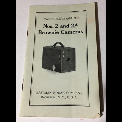 Original vintage 1910s-20s Kodak Brownie Nos. 2 & 2A Camera Instruction booklet