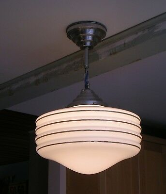 Planet Saturn Breast Nipple Style Circa 1933 Store Ceiling Light Pendent Fixture