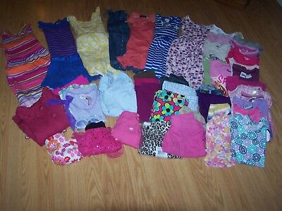 Girls Used Summer/Fall BTS Clothing Size 5/5T Lot of 43 Items