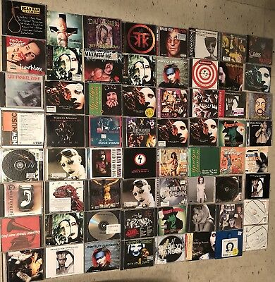 marilyn manson cds Lot Rare 63 Albums Old And New Music Soundtracks Singles
