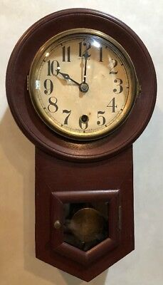 Miniature Sessions Round Drop Octagon School House General Store Wall Clock