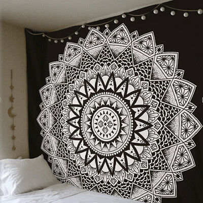 Indian Queen Mandala Tapestry Hippie Wall Hanging Decor Bohemian Bedspread Throw
