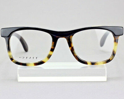 JY 吉野太郎 Eyeglass Rx Eyewear Acetate Wood Frames 1090 Black Shell Red Tortoise