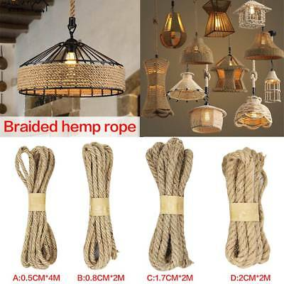 4 Sizes Twisted Burlap Jute Twine Rope Thick Natural Hemp Cord Sisal Rope String