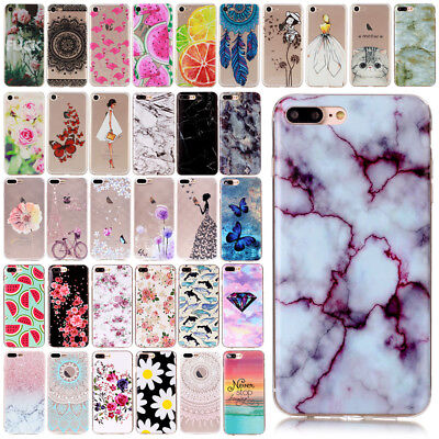 Ultra Slim TPU Rubber Gel Phone Protective Case Cover for Apple iPhone 7 8 Plus