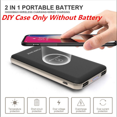 Qi Wireless 50000mah Power Bank 2USB Battery Fast Charger For iPhone Samsung